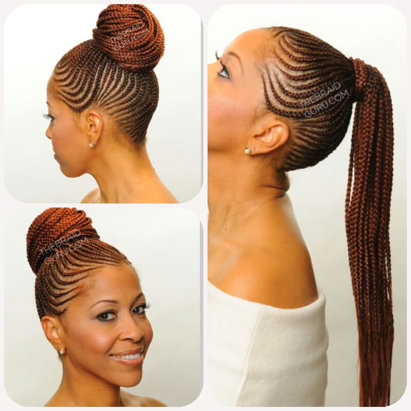 Nigerian weave styles with extensions
