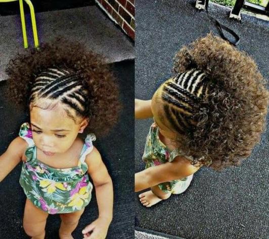 Nigreian children hairstyles for parties