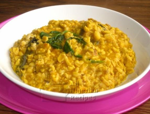 Porridge with ukwa leaf Nigerian food