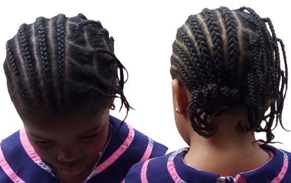 Salt and pepper children hairstyle