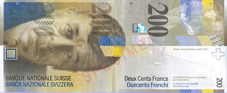 Swiss Franc CHF currency