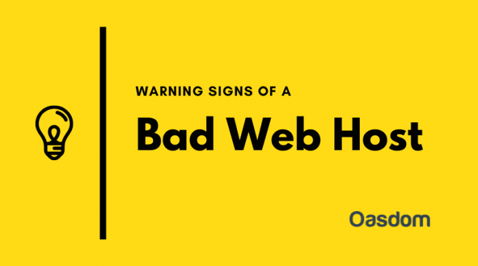 Warning signs of a bad web hosting company