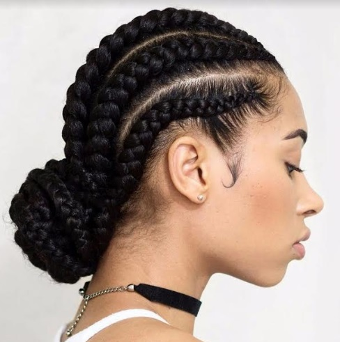 beautiful Nigerian children hairstyle weave