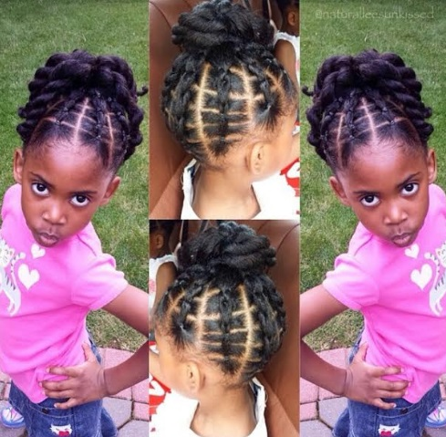 sexy party hairstyle for kids