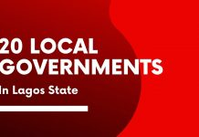 List of 20 local governments in Lagos state