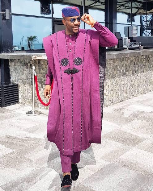 Agbada lace dress style
