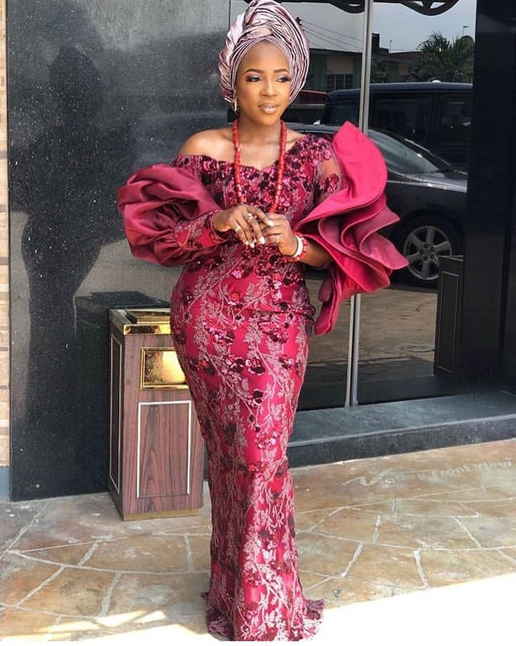 Latest Nigerian lace style gowns