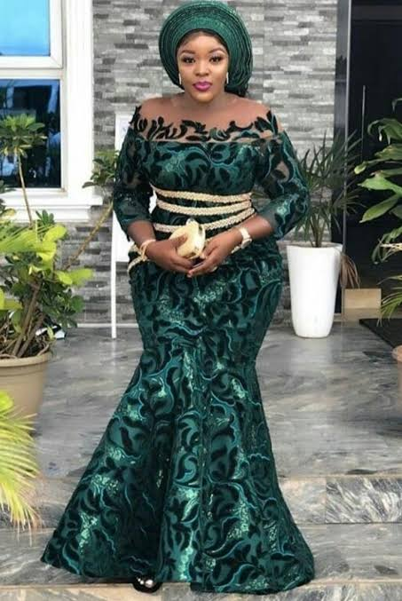 Nigerian lace styles and designs - Amazing cord lace