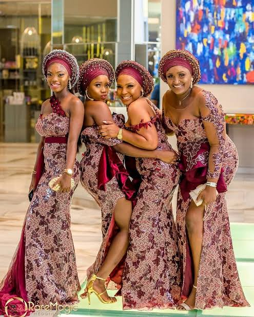 Nigerian lace styles and designs for weddings