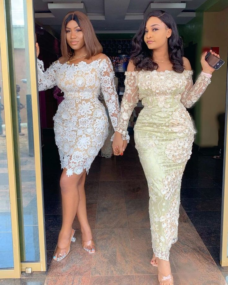 latest Nigerian off-shoulder lace style