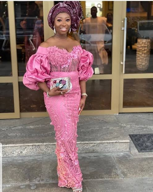 stylish lace style for weddings in Nigeria