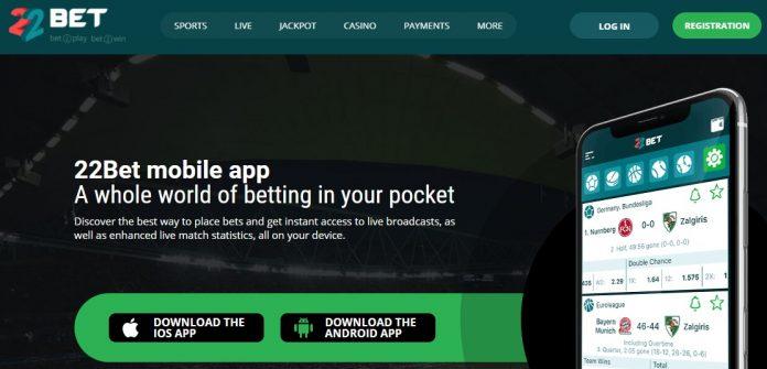 22bet mobile app