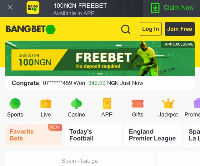 New betting sites in Nigeria - bang bet