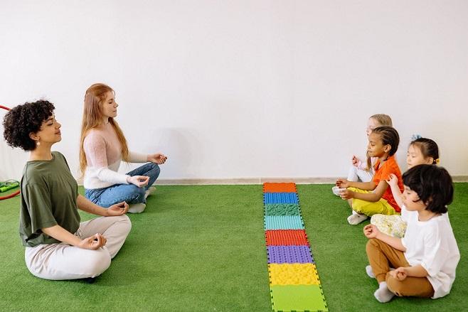 Yoga for kids in school